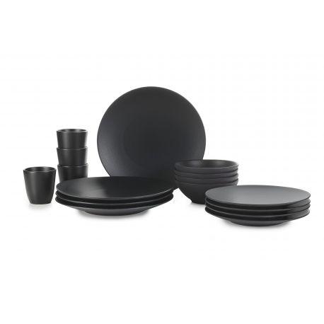 arcilla negra,arcilla,negra,hierro fundido,revol,conjunto de 16 piezas,vajilla